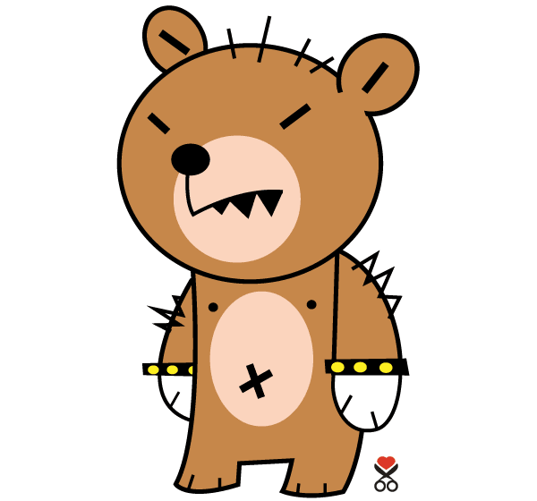 Rocker Teddy Bear Mascot