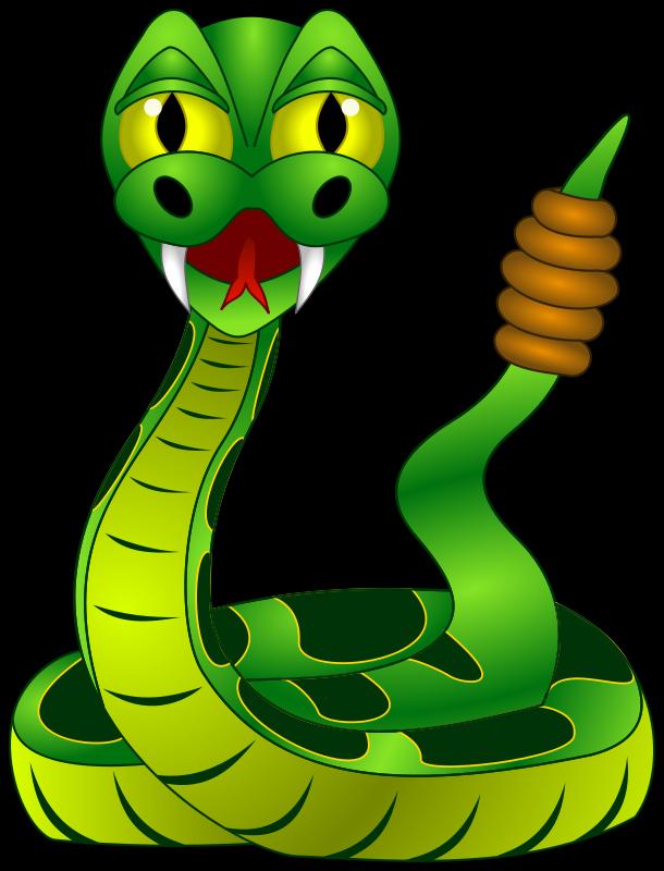Funny Rattle Snake Mascot