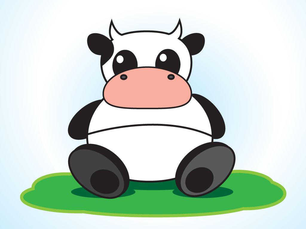 Sitting Cow Mascot