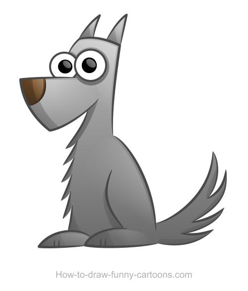 Grey Dog Mascot