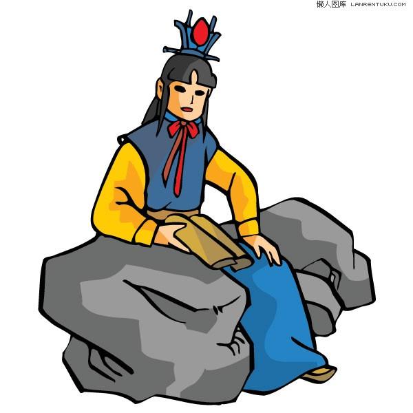 Chinese Man Mascot