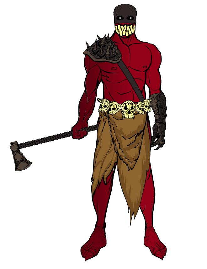 Red Warrior Mascot