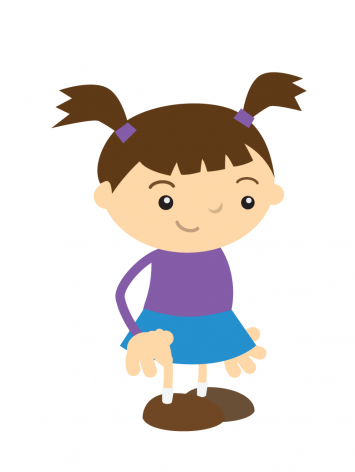 Cute Little Girl Mascot
