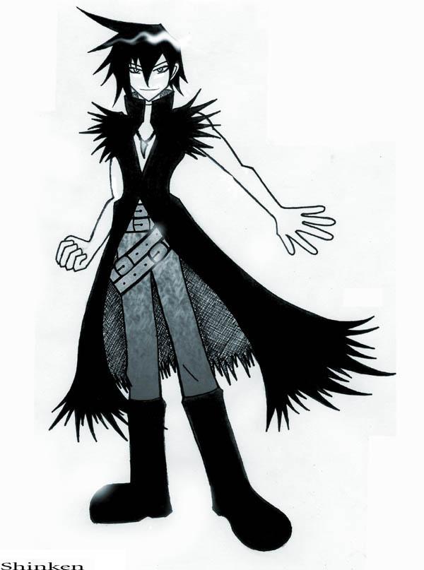 Black Rocker Boy Mascot