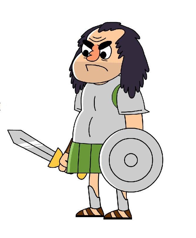 Greek Soldier Mascot