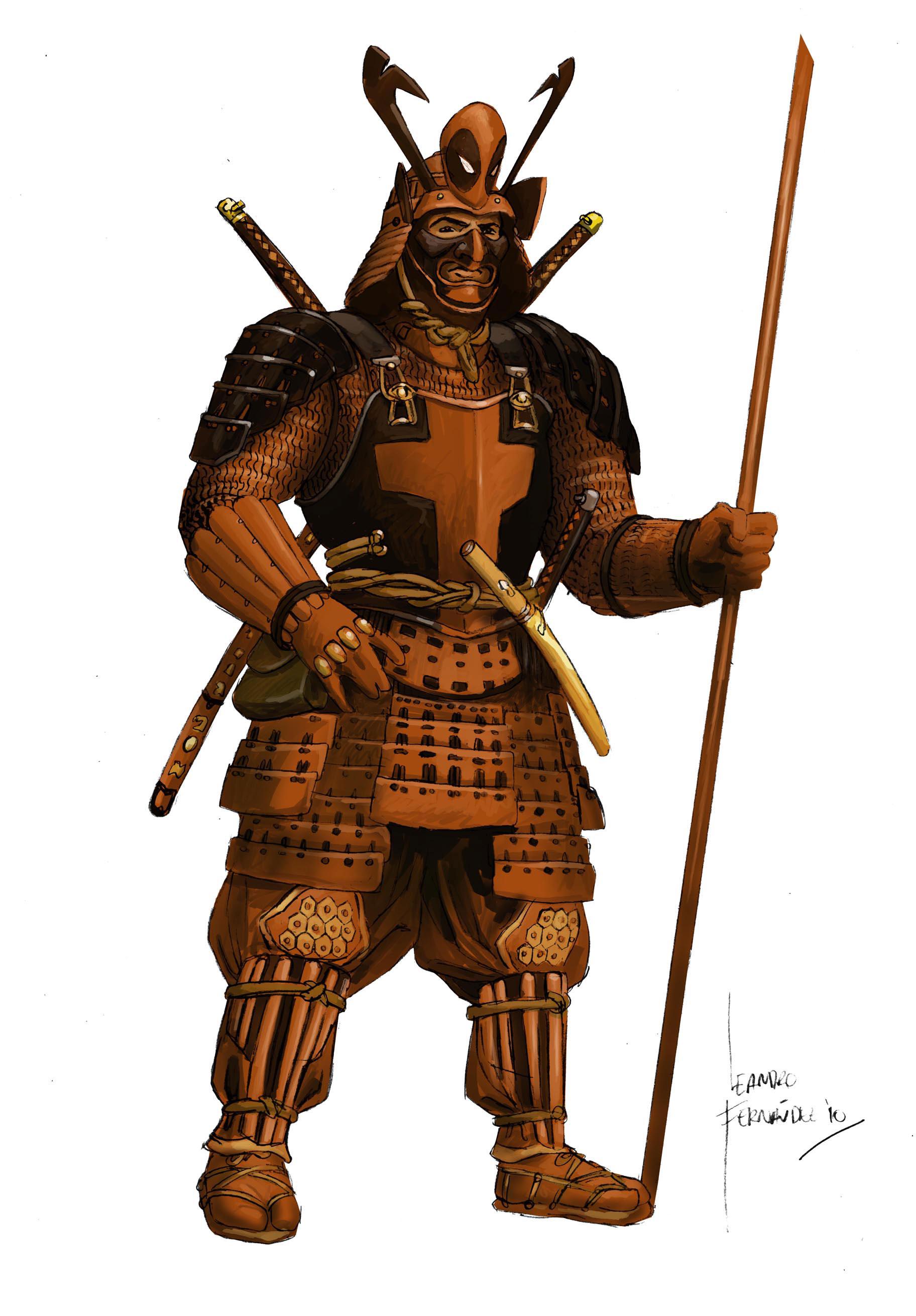 Dual Katana Samurai Warrior