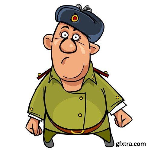 Military Guy Mascot
