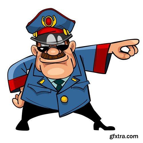 Menacing Policeman Character