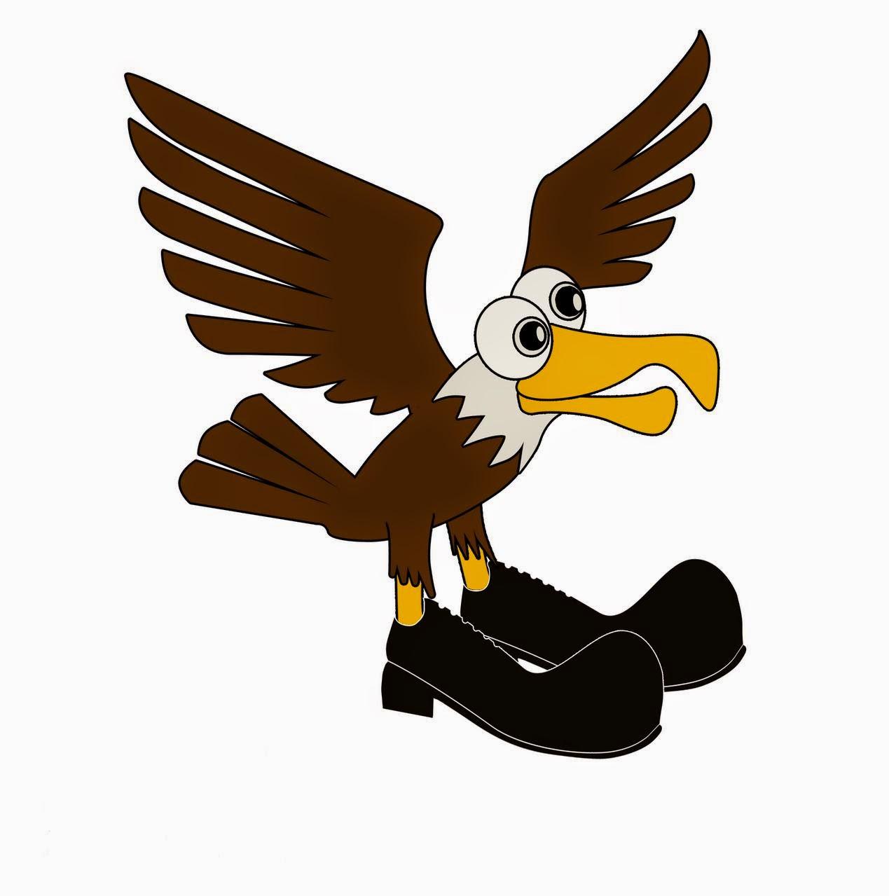 Hawk on Boots Mascot