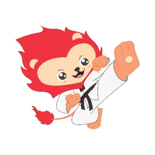 Martial Arts Lion Mascot