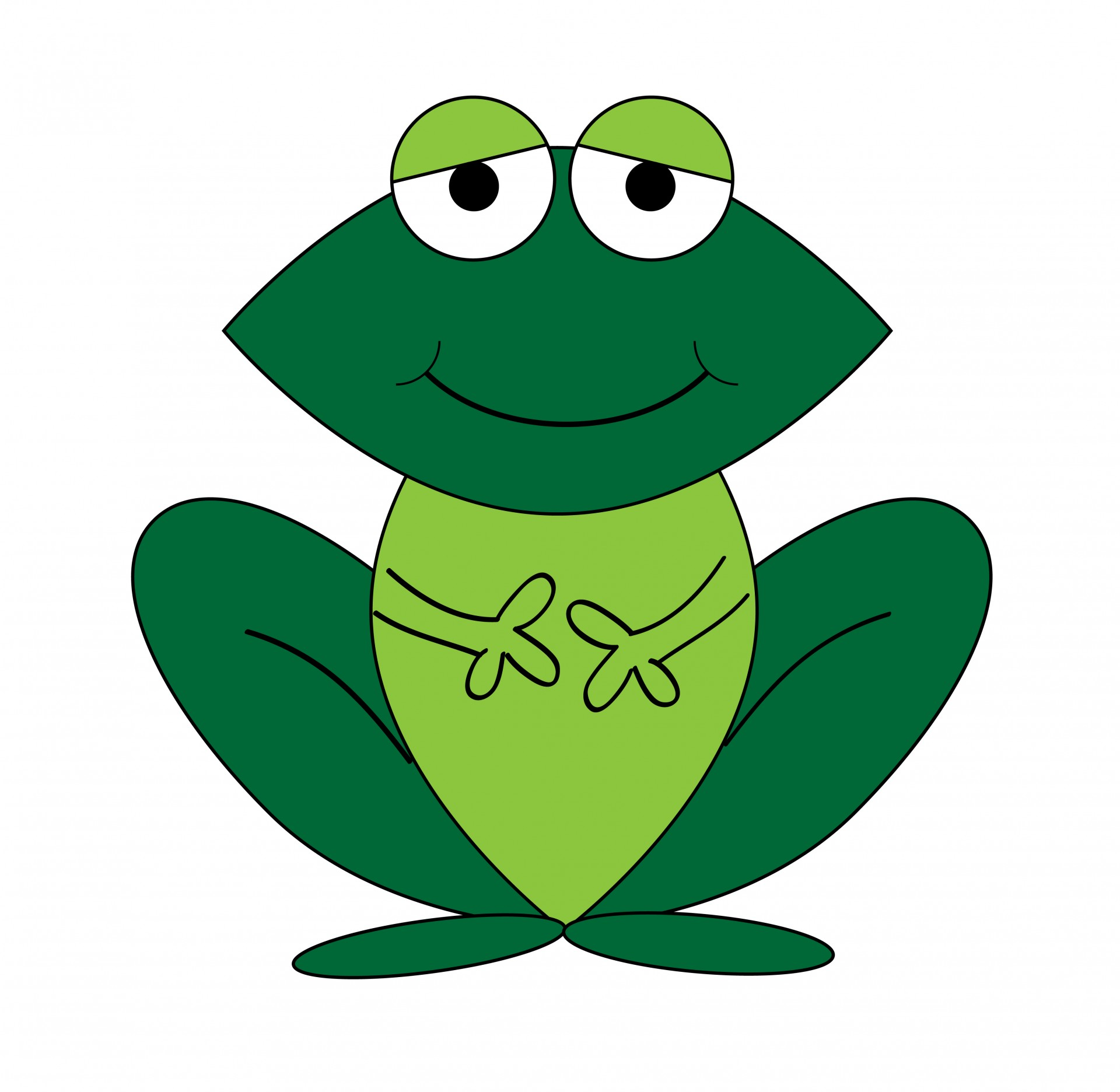 Happy Frog Mascot