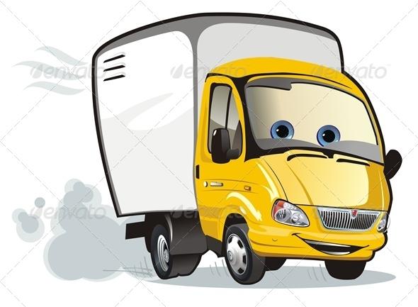 Cargo Truck Mascot