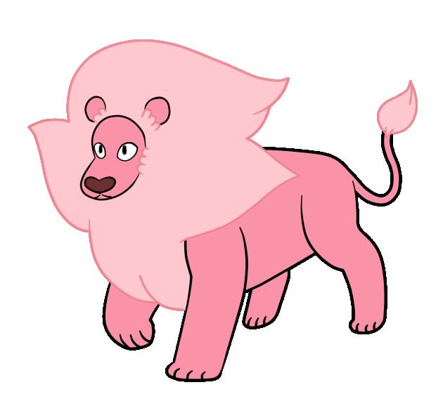 Pink Lion Mascot